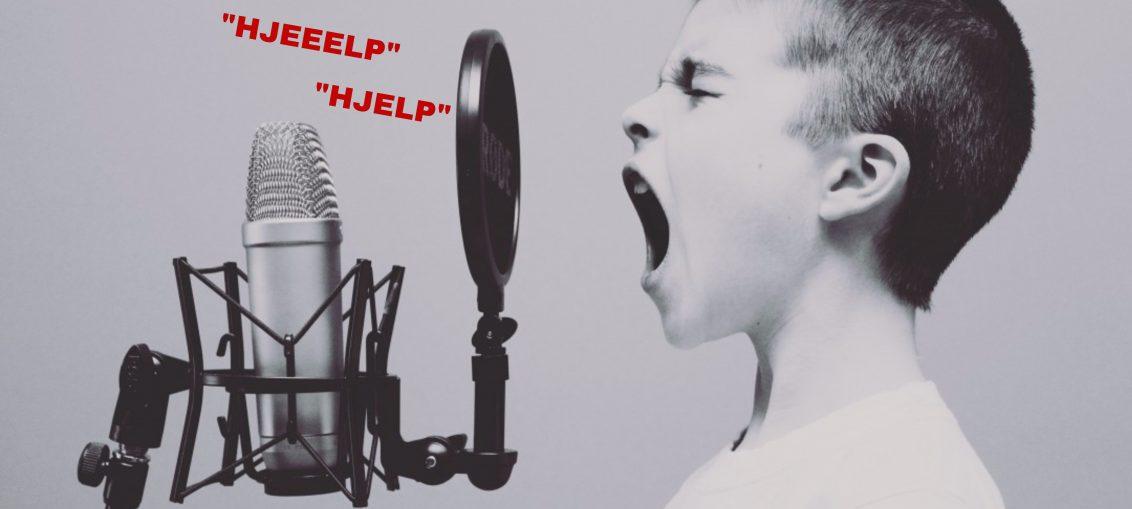 roper om hjelp